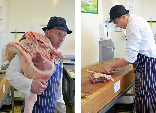 Butchers at work