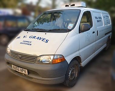 H.V. Graves delivery van