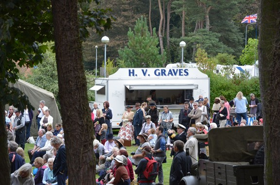 Graves Hog Roast at the 1940s weekend, Holt, Norfolk