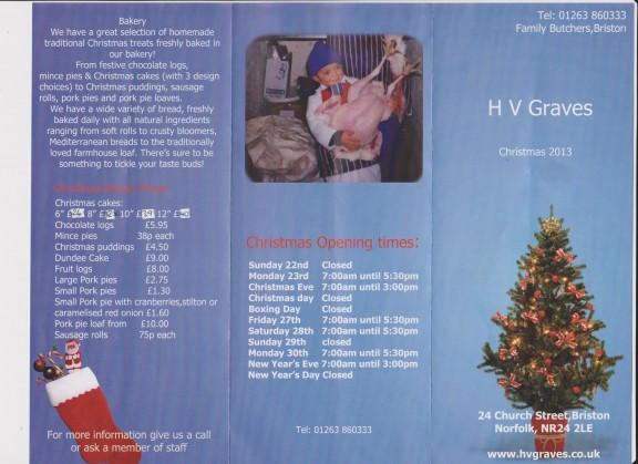 Christmas Hampers Brochure 2013